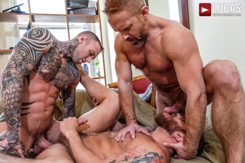 LucasEntertainment Hardcore muscle fucking threesome Dylan James Dirk Caber Riley Mitchel 025 Gay Porn Pics - Dylan James, Dirk Caber, Riley Mitchel