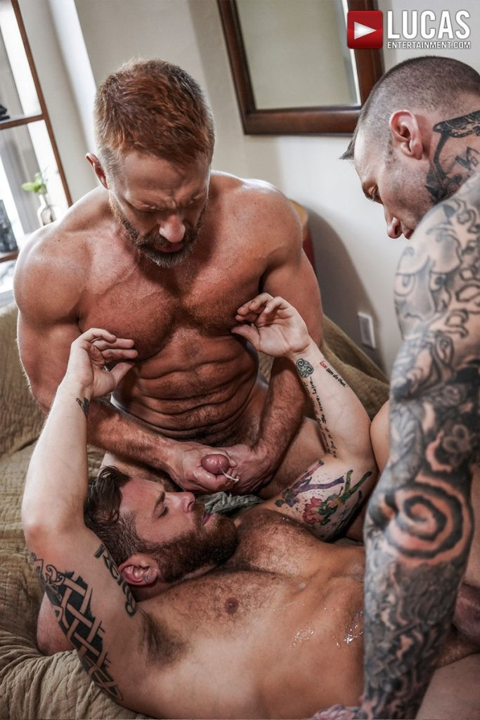 LucasEntertainment Hardcore muscle fucking threesome Dylan James Dirk Caber Riley Mitchel 030 Gay Porn Pics 683x1024 - Dylan James, Dirk Caber, Riley Mitchel