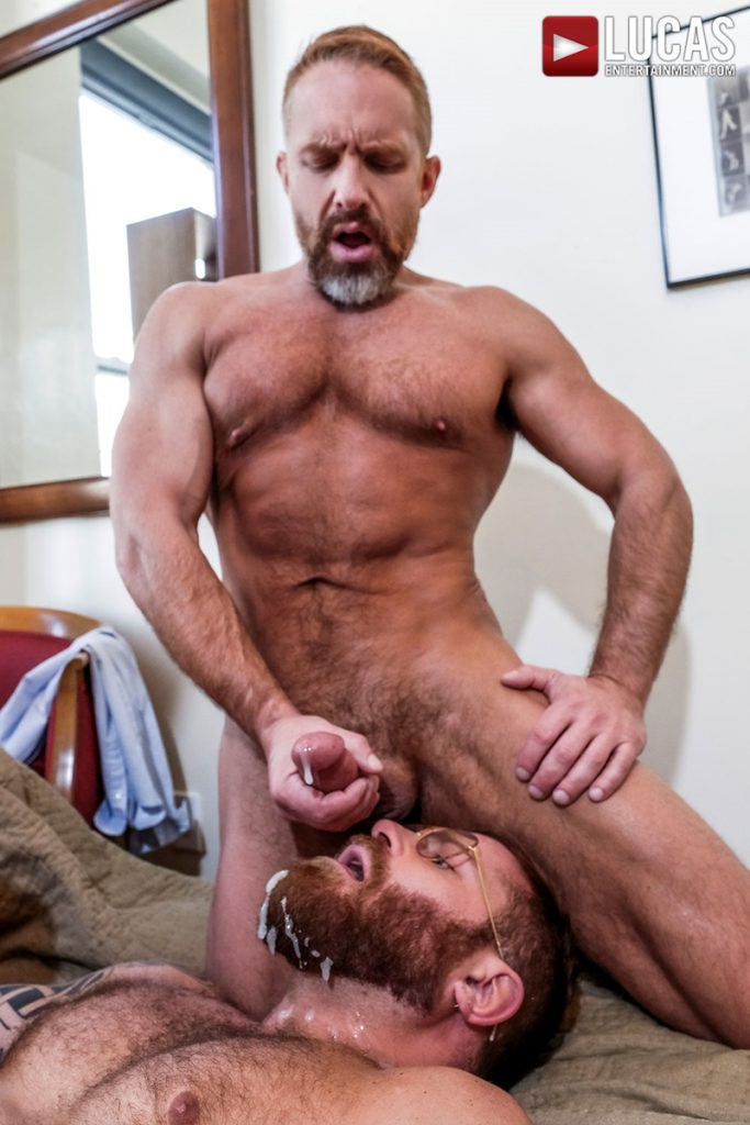 LucasEntertainment Hardcore muscle fucking threesome Dylan James Dirk Caber Riley Mitchel 031 Gay Porn Pics 683x1024 - Dylan James, Dirk Caber, Riley Mitchel