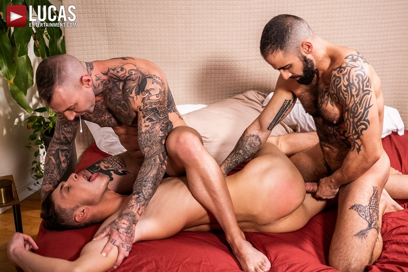 Hot newbie young stud Braxton Boyd spit roast Edji Da Silva Dylan James huge dicks LucasEntertainment 006 Gay Porn Pics - Dylan James, Edji Da Silva, Braxton Boyd