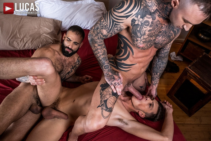 Hot newbie young stud Braxton Boyd spit roast Edji Da Silva Dylan James huge dicks LucasEntertainment 008 Gay Porn Pics - Dylan James, Edji Da Silva, Braxton Boyd