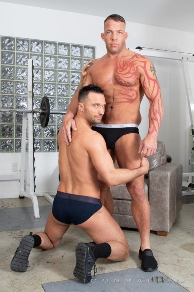 Tristan Brazer fucks Colby Tucker hot ass hole balls explode IconMale 008 Gay Porn Pics 682x1024 - Colby Tucker, Tristan Brazer