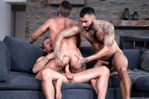 Hardcore gay bareback anal trio Jesse Zeppelin Rikk York Sharok Raging Stallion 001 porn pics gay 300x200 - Nate Donaghy, Bart Cuban