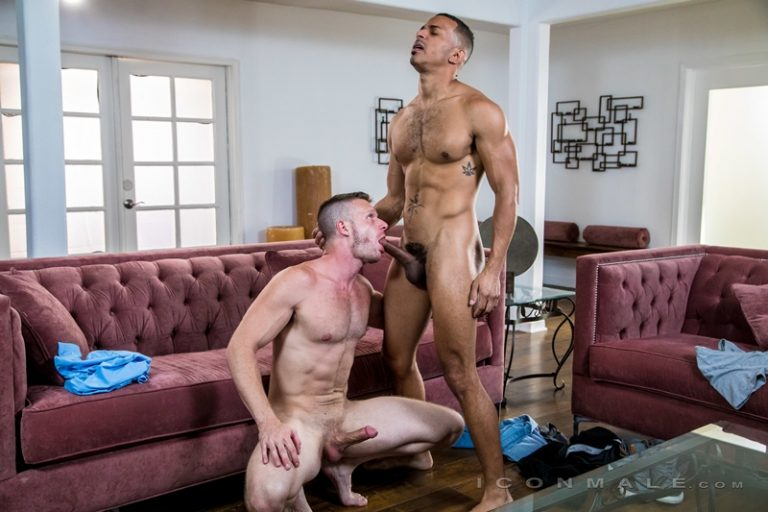 Hot black muscle stud Zario Travezz huge cock bareback fucking Brian Bonds hot bare asshole Icon Male 001 gay porn pics 768x512 - Brian Bonds, Zario Travezz