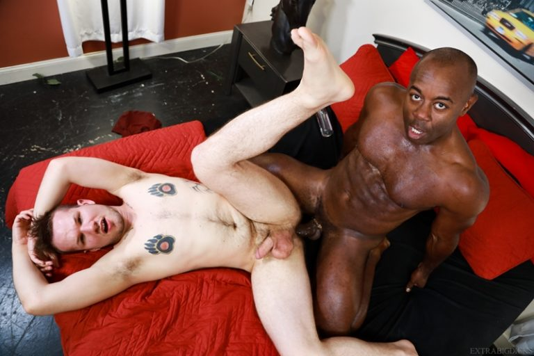 Interracial anal fucking Devin Tyler white ass fucked hard Aaron Trainer big black cock Extra Big Dicks 001 gay porn pics 768x512 - Aaron Trainer, Devin Tyler