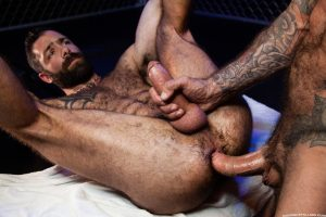 Jake Nicola bare ass fucking Drew Sebastian huge hairy dick Raging Stallion 001 gay porn pics 300x200 - Kristian Bresson, Eluan Jeunet