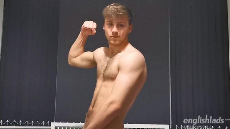 Sexy straight muscle dude Joe Fitzpatrick strips Adidas trackie bottoms jerking huge uncut cock English Lads 001 gay porn pics 768x432 - Joe Fitzpatrick