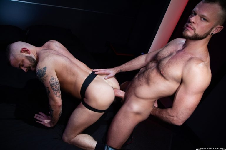 Sean Harding muscle butt barebacked hairy hunk Wade Wolfgar hung dick Raging Stallion 001 gay porno photo 768x512 - Wade Wolfgar, Sean Harding