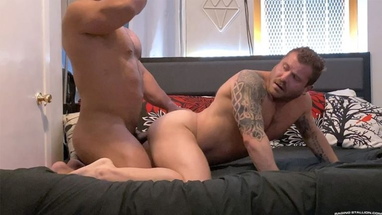 Big muscle dude Zack Mitchel breeds Riley Mitchel raw asshole Raging Stallion 001 gay porn pics 768x432 - Riley Mitchel, Zack Mitchel